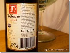 La Trappe Dubbel tylna etykieta 2